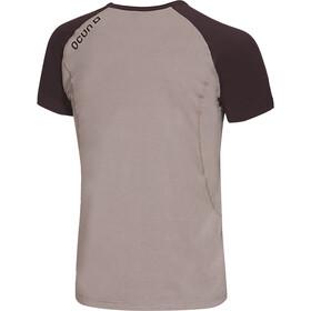 Ocun Bamboo T Blossom Camiseta Hombre, gris/marrón